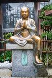 铜菩萨雕象 免版税图库摄影