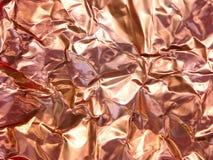 铜被弄皱的箔 库存照片