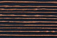 铜被排行的金属板 免版税库存照片