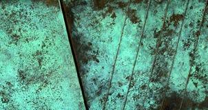 铜被氧化的纹理 免版税库存照片