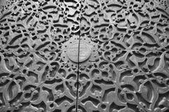 铜被雕刻的门 免版税图库摄影