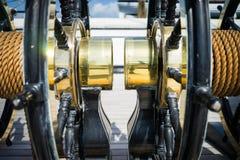 黄铜轮子 免版税图库摄影