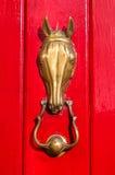 黄铜通道门环 库存照片