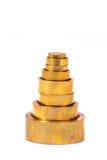 黄铜重量 图库摄影