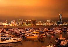 铜锣湾在晚上 库存图片