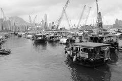 铜锣湾避风塘 库存照片