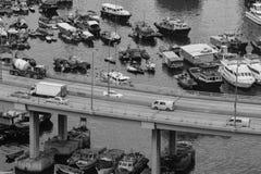 铜锣湾避风塘 免版税库存照片