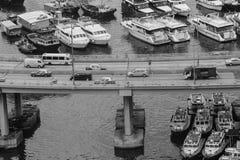 铜锣湾避风塘 库存图片