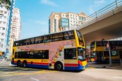 铜锣湾Moreton大阳台公共汽车终点在香港 图库摄影