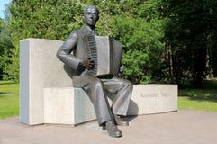 铜雕塑在爱沙尼亚 库存图片