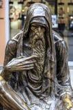 铜雕塑在街市斯科普里,马其顿 图库摄影