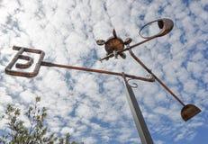 铜雕塑:Amaze'n马格丽特里弗 免版税库存图片
