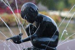 铜雕塑 免版税库存照片