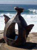 铜雕塑 图库摄影