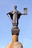 铜雕塑Staritsy, Staritsa市特维尔地区,俄罗斯 免版税图库摄影