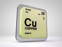 铜-古芝-化学元素周期表 库存图片