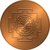 铜Shree扬特拉河设计 免版税库存图片