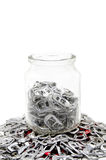 铝为捐赠 免版税库存照片