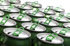 铝啤酒cans.abstract背景 免版税图库摄影
