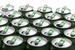 铝啤酒cans.abstract背景 库存照片