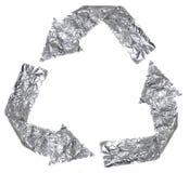 铝回收符号 库存图片