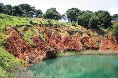 铝土矿坑的特殊性 免版税库存图片
