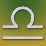 铝天秤座符号 免版税图库摄影