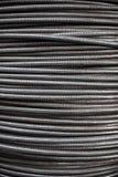 铝导线纹理装甲标尺缆绳的 抽象backgroun 库存照片