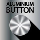 铝按钮 免版税库存图片