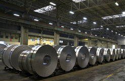 铝板料工厂 免版税库存图片