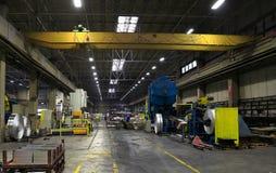 铝板料工厂 免版税库存照片