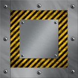 铝框架镶边警告 免版税库存图片