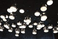 铝盖子LED光的不规则的安排 库存照片