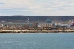 铝精炼工在阿根廷 免版税库存图片