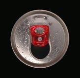 铝罐关闭饮料 库存照片