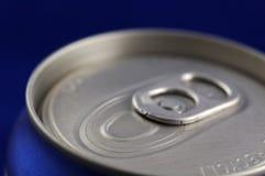 铝罐结束的饮料软件 库存照片