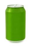 铝罐绿色 免版税库存照片