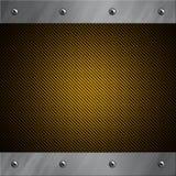 铝被闩上的碳纤维框架金黄 免版税库存照片