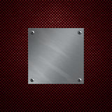 铝被闩上的碳纤维牌照 免版税库存图片
