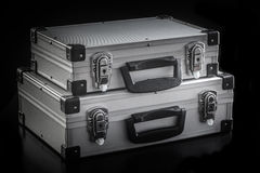 铝金属盒箱子 库存图片
