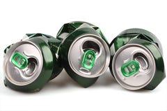 铝银行啤酒 免版税库存图片