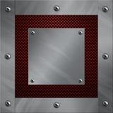 铝闩上了碳纤维框架 库存图片