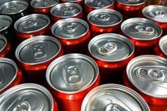 铝饮料装特写镜头于罐中 库存图片