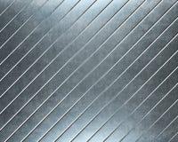 铝backgro有用掠过的金属的牌照 免版税库存图片