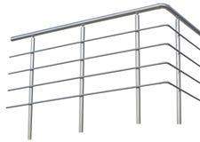 铬有扶手栏杆的金属篱芭 免版税库存照片
