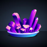 铬钾白矾紫色水晶  库存图片