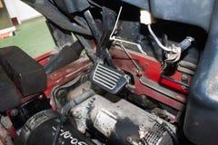 铲车加速器和刹车踏板 库存照片
