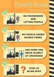 铲车安全规则 图库摄影
