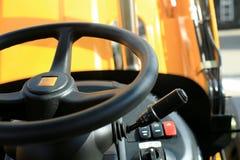 铲车的工作地点 免版税库存照片