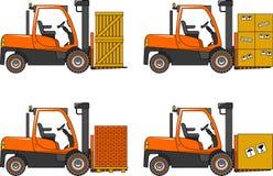 铲车 重型建筑机器 向量 免版税库存图片